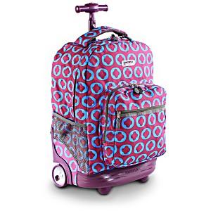 Универсальный школьный рюкзак на колесах JWORLD Sunrise арт. RBS18 Логотип