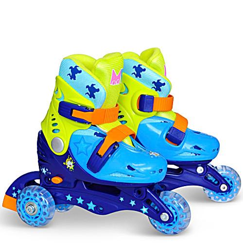 Ролики детские 26 размер, для обучения (трехколесные, раздвижной ботинок) MagicWheels зеленые